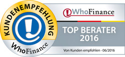 WhoFinance Kundenumfrage - Top500 Finanzberater